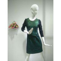 台湾大码装凯莎妃品牌女装折扣3D烫印重工业刺绣.一手货源