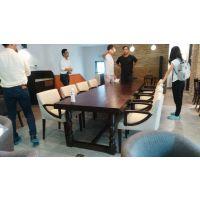 上海复古风格餐厅桌椅定制 上海韩尔家具厂直销