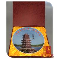 景德镇陶瓷旅游纪念盘定制厂家 旅游纪念品制作