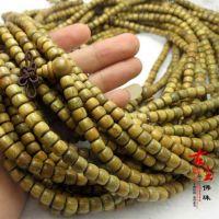 古尘工艺 天然美洲绿檀佛珠手链108颗圆珠桶珠地摊货源大量供应