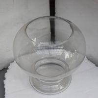 经销批发圆形透明玻璃创意鱼缸迷你缸灯笼款大小号金鱼缸水培花瓶