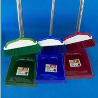 【厂家直销】塑料扫把簸箕套装4种搭配扫帚、笤帚组合套装