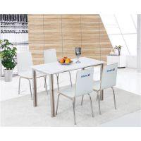 广州市快餐桌椅,弯曲木简约餐桌椅组合
