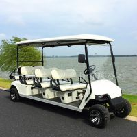 西安8座电动高尔夫球车,校园接送游览车,房地产看房车
