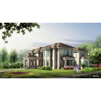 地中海风格经典带观景台四层自建别墅设计图(含效果图)29.1x29.7米