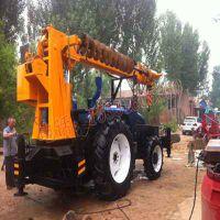 得力吊车挖坑两用途机 挖坑立杆一体机 拖拉机挖坑吊车机厂家直销