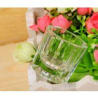 美甲工具指甲 水晶液杯八角玻璃杯 美甲用品透明水晶杯