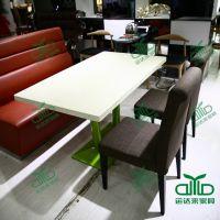 1.2米茶餐厅大理石餐桌 咖啡厅餐桌椅 甜品店防火板桌子 可订制