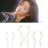 韩国来自星星的你明星耳饰品批发 珍珠流苏长链耳坠 ALQE20140368