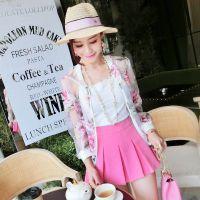 小银子2015夏装新款韩版洋气欧根纱透视薄款防晒衣女外套W4451