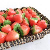 高档仿真水果蔬菜 批发 草莓 迷你型 橱柜饰品 家居