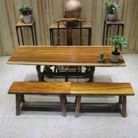 家有名木供应奥坎大板简约餐桌原木办公家具老板桌班台实木大板茶桌书桌会议桌