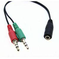 批发手机笔记本电脑耳机转换耳麦二合一耳机分线器 音频转接头