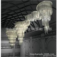 软装酒店会所KTV工程定制创意吹制艺术玻璃吊件套件