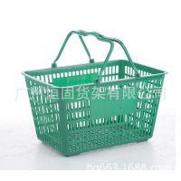 供应塑料购物篮(塑料手柄),坚实耐用,广州购物篮