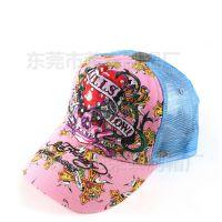 工厂定做海绵帽 男女式鸭舌帽网帽夸张骷髅头绣花印花货车帽网帽