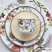 欧洲出口英国W家骨瓷西餐具套装 牛排盘沙拉盘杯碟-经典波西米亚