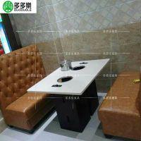 贵阳餐厅桌椅大理石火锅烧烤桌厂家定做批发