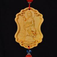 大千工艺 黄杨木雕刻南海观音 车挂装饰品 热销款批发