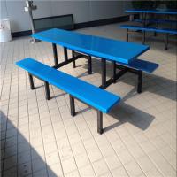 东莞康腾坦背食堂餐厅四人位餐椅批发、学生食堂餐台款式选择、彩色餐桌椅订制