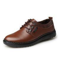 特价加绒批发秋冬男士鞋子正品休闲皮鞋真皮棉鞋品牌男鞋一件代发
