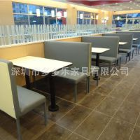 【工程花絮九】添添聚源味快餐店防火板餐桌 四人位餐桌 板式桌子