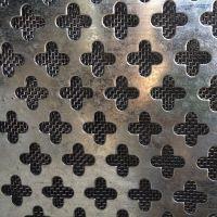 不锈钢建筑装饰冲孔网板十字网 圆孔网