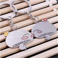 结婚生日小礼品礼物韩国创意男士蘑菇头金属情侣钥匙扣钥匙链挂件