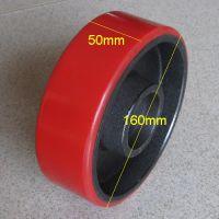 芜湖PU轮 液压装卸车轮 诺力叉车轮 手动液压搬运车轮 聚氨酯轮尼龙橡胶轮脚轮承重轮