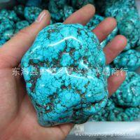 高蓝瓷 天然绿松石 蓝松石原石绿松石奇石摆件 辟邪 招财