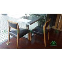 运达来定制生产西餐厅家具,南山茶餐厅桌椅直销 四人位板式餐桌