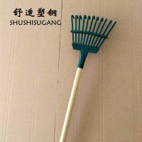 宇鑫牌园林工具11齿耙子批发 草耙 落叶铁耙厂家 舒适塑钢