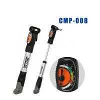正品【CMP-008】BETO 双冲程铝合金附表迷你型打气筒 户外气筒