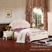 经典 欧式床 全实木床板 实木床 真皮 牛皮床 软靠特价 家具厂家