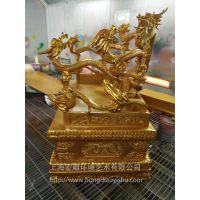上海宏雕雕塑泡沫玻璃钢婚庆节庆园林景观雕塑龙椅