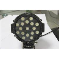 供应 WD-0751W圆形 LED工作灯 大功率汽车LED工作灯 51W圆形工作灯