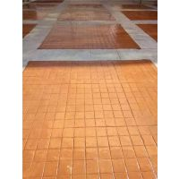 供应湖南彩色水泥印花路面广场材料模具