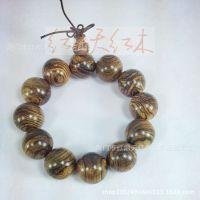 红木工艺 精品佛珠批发 老挝花奇楠精品佛珠2.0直径佛珠