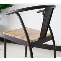 美式乡村复古仿旧铁艺餐椅 简易茶餐厅/奶茶店椅子