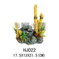 田园风格 仿真竹子HJ022 树脂摆件 鱼缸装饰品 水族装饰品