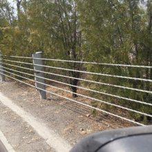 定制公路景区钢索护栏4索5索6索高镀锌,可喷塑