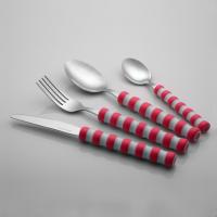 乐诚餐具 塑料柄不锈钢餐具 16件套