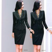 2015新款春秋修身版女装套装套裙长袖设计厂家定做