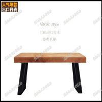 实木办公桌椅家具咖啡厅餐厅铁艺餐桌椅定制简约会议桌电脑桌书桌