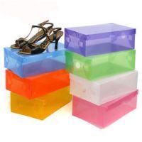 彩色透明鞋盒子塑料鞋盒翻盖式抽屉式收纳鞋盒子水晶鞋盒批发特价