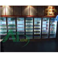 深圳饮料展示柜的价.立式饮料展示柜.新款黑色款冷藏柜.药品阴凉柜....