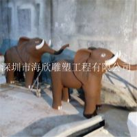 玻璃钢泡沫雕塑模型 广场公园园林仿真长颈鹿大象驴玻璃钢动物雕塑厂家