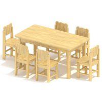 全新加厚六人桌