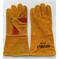 厂家批发加厚牛皮劳保防护手套 耐高温电焊皮手套 防切割焊工绝