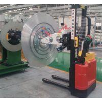 供应汽车散热器500kg铝卷真空搬运小车、适用于翅片机上下料使用。
